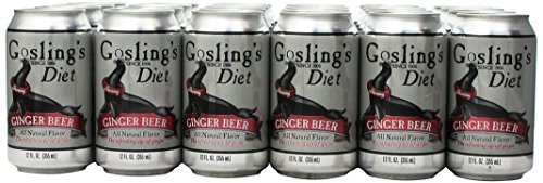 Gosling's Diet Stormy Ginger Beer 12 Oz Pack of 24