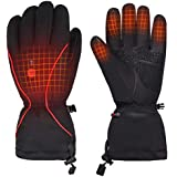 Heated Gloves Men Women,Electric Rechargeable Battery Heating Gloves Hand Warmer for Skiing Motorcycle Camping Riding Hiking Snow Work Athritis Raynaud's
