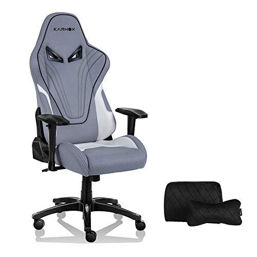 KARNOX Hero BA ゲーミングチェア ファブリック PCチェア メッシュ布地 座椅子 オフィスチェア 腰痛対策 人間工学チェア デスクチェア メッシュ 155無段階リクライニング ハイバック ヘッドレスト調節可能ランバーサポート 肉厚アームレストオットマン付き 通気性抜群 高コスパ 在宅勤務 360度回転式 HERO-BA ヒーロー