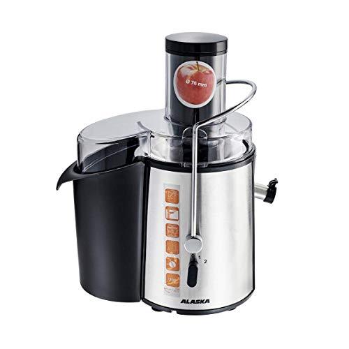 ALASKA JE-1600 Entsafter | 600 Watt | 1,8 l Fassungsvermögen | Edelstahlgehäuse | 2 Geschwindigkeitsstufen | Fruchtfleischbehälter | Spülmaschinengeeignet