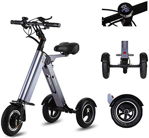 Bicicletas Eléctricas, Bicicleta eléctrica plegable de 10 '', bicicleta eléctrica de 250 vatios con batería de iones de litio 7.8AH, marco de aleación de aluminio, bicicleta eléctrica de la ciudad, bi