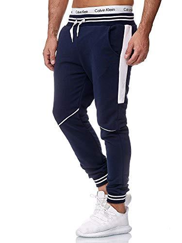 OneRedox Herren Jogging Hose Jogger Streetwear Sporthose Modell 1317 Navy XXL