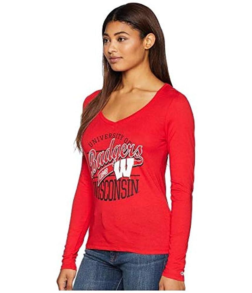 旅行者カメ危険なChampion College Wisconsin Badgers Long Sleeve V-Neck Tee 服 【並行輸入品】