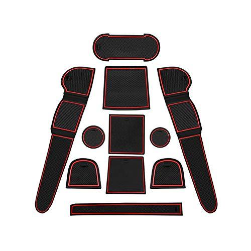 CDEFG para Seat Ateca SUV Coche Accesorios Antideslizante Copa Mats Anti Slip Puerta Ranura de Acceso Kit de la Estera del cojín de la Ranura decoración de Interiores