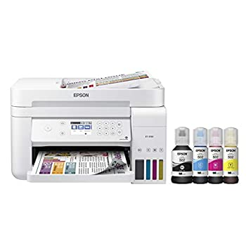 Epson EcoTank ET-3760 Wireless Color All-in-One Cartridge-Free Supertank Printer with Scanner Copier and Ethernet Regular