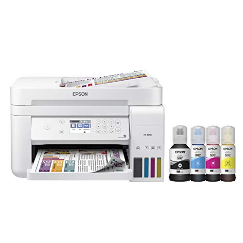 Epson EcoTank  Wireless Color All-in-One Cartridge-Free Supertank Printer with Scanner, Copier and Ethernet, Regular