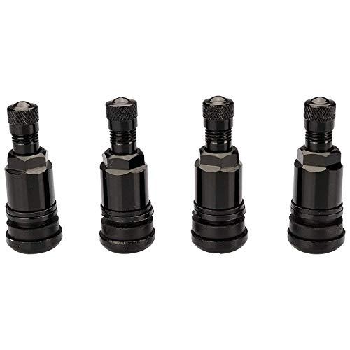 Haskyy 4 x SCHWARZ Metallventile I Stahlventile I Universal Felgenventile I 11,3 mm NEU