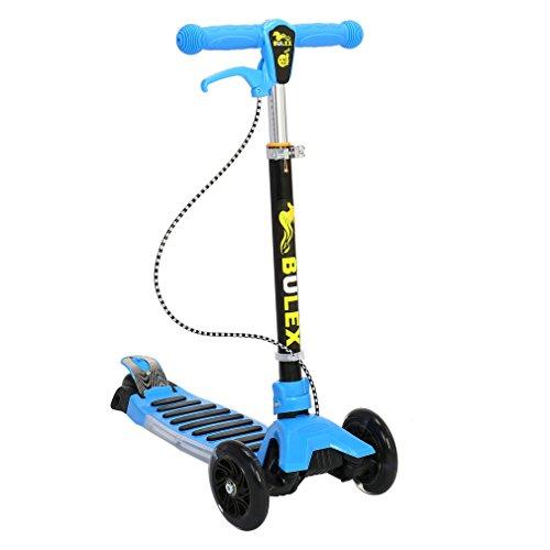 Patinete Cimiva Patinete scooter plegable con 3 ruedas para niños de 3-13 años de edad, azúl