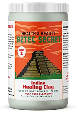 Aztec Secret - Indian Healing Clay 2 lb. (900 Grams) - Deep Pore Cleansing Facial & Body Mask - The Original 100% Natural Calcium Bentonite Clay - New Version 2 from Oceanside Health Products LP