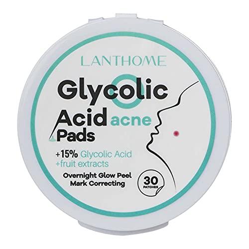 Ksodgun 30 parches almohadillas de ácido glicólico controlan el acné desatascan los poros almohadilla para el acné