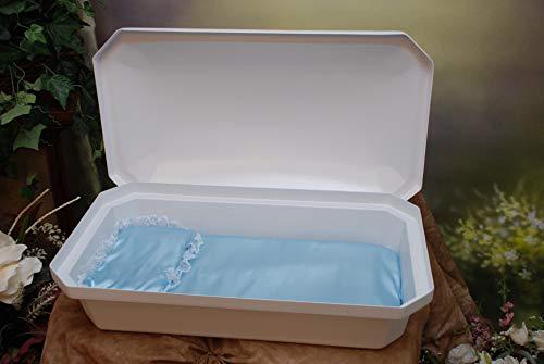 Newnak's Pet Caskets-Pet Casket White/Blue (3 Sizes) Standard (Large)
