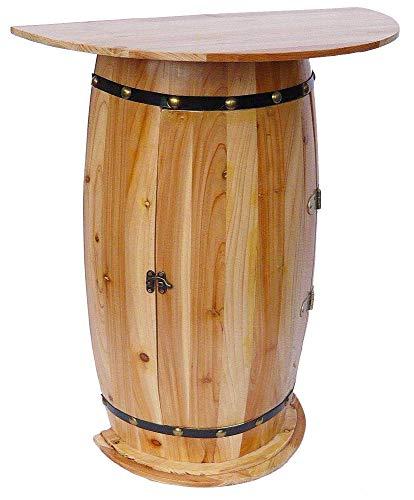 DanDiBo Wandtisch Tisch Weinfass 0373 Schrank Weinregal Fass aus Holz - 2