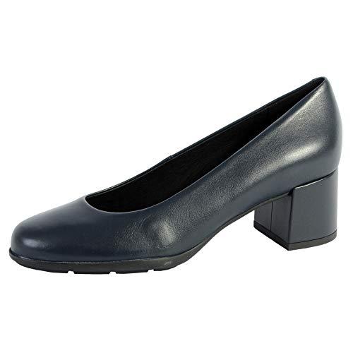 Geox D New ANNYA Mid A, Zapatos con Tacón para Mujer, Azul (Navy C4002), 38,5 EU