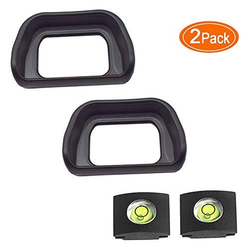 ULBTER A6300 A6000 Augenmuschel Okular Sucher EP für Sony Alpha 6300 6000 NEX-6 NEX-7 Kameras Ersetzt Sony FDA-EP10 Okular, FDA-EV2S Okularmuschel & Blitzschuhabdeckung-(2 + 2 Stück)