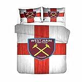 AINYD Lleva el Logo del West Ham United F.C. Muy Suave Transpirable Microfibra Juegos de Fundas para edredon(220x240cm), Funda nórdica con Cremallera, Respirable almohad