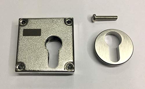 Aufschraubschloss, Kastenriegelschloss für Profilzylinder (PZ) inklusive Rossette