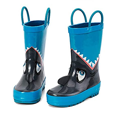 Kids Waterproof Rubber Rain Boots for Girls, Boys & Toddlers