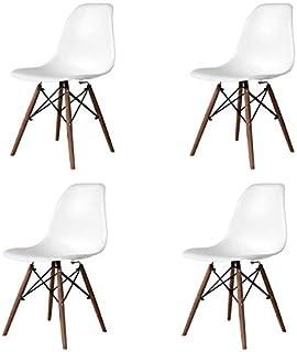 Ventamueblesonline Pack 4 SILLAS Tower Wood Blancas Patas WENGUE Extra Quality