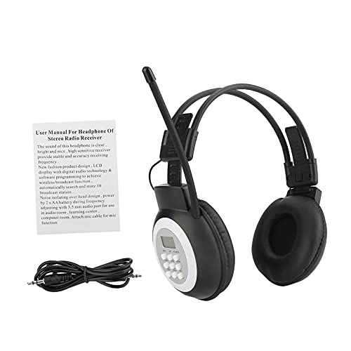 B Blesiya Kopfhörerradio, UKW-Stereo-Headset-Radioempfänger, Simultandolmetscher