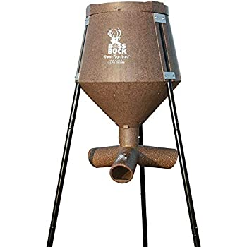 Galvanized Metal Hardware and Legs Lightweight but Strong 200 Pound Gravity Fed Tripod Game Deer Corn and Protein Pellet Feeder Non-Salt Based Feed Feeder s Flow Adjustable Drain Holes