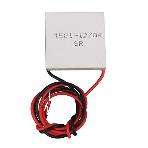 BQLZR TEC1-12704 DC12V 3.2A 38W Blanc Kit de bricolage Thermoélectrique à effet Peltier Refroidisseur Système de refroidissement Dissipateur de chaleur Plaque Module de conduction CPU