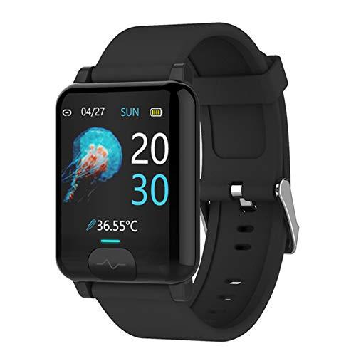 LHL Nuevo E04S Deportes Smartwatch IP68 ECG Impermeable + PPG Ritmo Cardíaco Presión Arterial Compartir Datos En Tiempo Real Deportes Smart Bluetooth Reloj,A