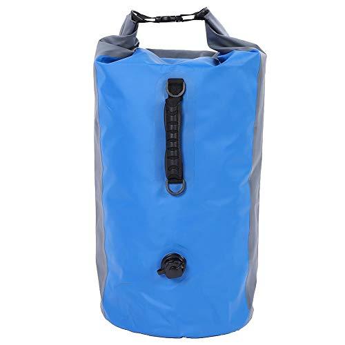 AYNEFY - Bolsa Impermeable con Correa para Mochila para Rafting, natación, Senderismo, Kayak, Pesca en Barco, 74 x 30 cm, Blue&Grey
