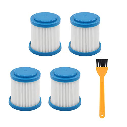 ApplianPar Pack of 4 Replacement VPF20 Pleated Vacuum Filter for Black and Decker Smartech 2-in-1 Cordless Lithium Stick Vacuums with Clean Brush
