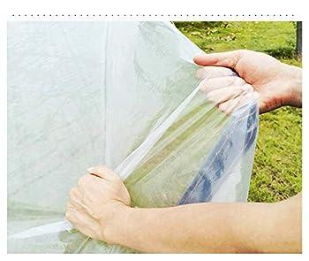 SJMFGF Clear Tarpaulin Tarpauline étanche Tarpauline Epaissée Epaissée Edge enveloppée Pliable Bâche Transparente avec Plastique oculaire en métal pour la végétation de Voiture