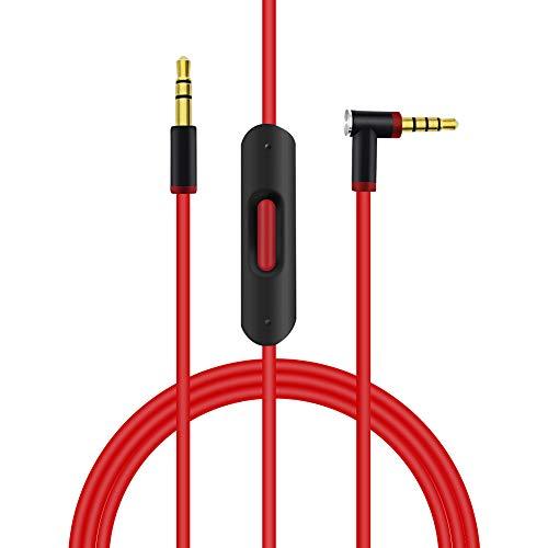 Ersatz Audio Kabel Verlängerungskabel mit Inline-Mikrofon und Steuerung mit Beats kompatibel von Dr. DRE Kopfhörer Solo 3 /Solo 2/ Studio3/ Studio 2/Pro/Detox/Wireless/Mixr/Executive/Pille