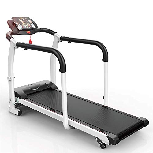 ZRXRY Rehabilitation Treadmill, Walking Machine for The Elderly, Fitness Exercise, Physical Rehabilitation Indoor Training, Equipped with Safety Handrails and Safety Belts, 0.5-6 Km/H