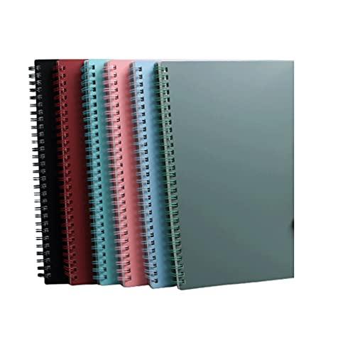 SUISHI Cuaderno Espiral Carpeta falló con 80 Hojas de Papel;4/6 Paquete de Colores sólidos Surtidos for la Revista de la Escuela (Color : 4-Pack b5)