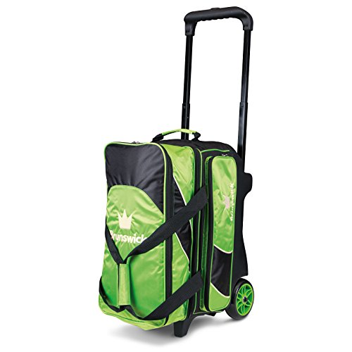 Brunswick Roller-Bowling-Tasche Edge Double, Lime/Black, One Size