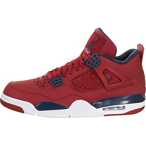 Jordan Retro 4'FIBA Gym Shoes/Obsidian-White (13 D(M) US)