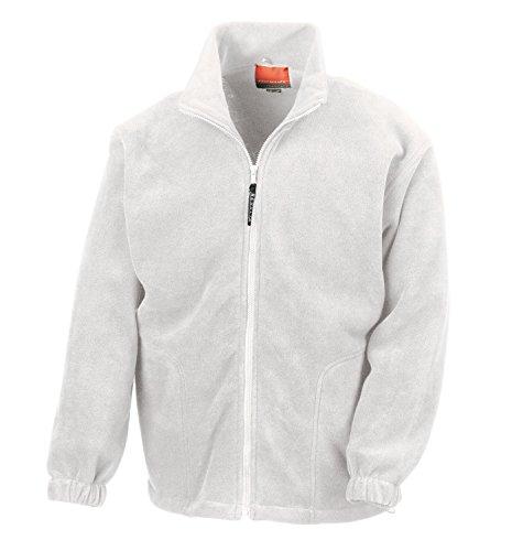 Result RT36A Active Fleece Jacke Herren Jacke Unisex Fleecejacke, Farbe:White, Größen:XXL
