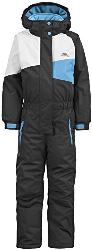 Trespass Wiper Traje de esquí, Unisex niños, Negro, Size 2/Size 3