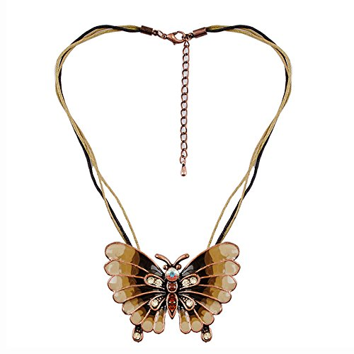 Sticks joyería mariposa collar colgante moda esmalte aleación de zinc encanto niña colgante Metal Largo Mujeres Collar Chic Mujer Joyería al por mayor
