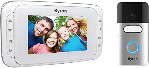 Byron DIC-22815 Videoportero inalámbrico - Pantalla portátil de 4,3 pulgadas - Alcance 200 m en campo abierto - Baterías recargables