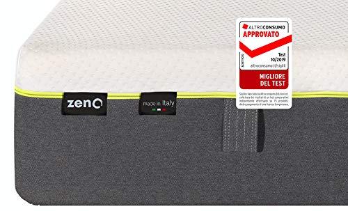 ZenO Materasso, Memory Foam, Singolo, 80 x 190 cm - Approvato Migliore del Test 2019 da Altroconsumo - Dispositivo Medico Detraibile