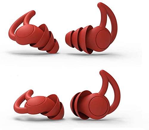 NKTJFUR Nuevos Tapones para el oído para la protección de audición durmiendo Súper Ruido Cancelación de los Earplugs para el Estudiante Oficina de la Oficina de Silicona Anti- Ruido SNR40 Tapones par