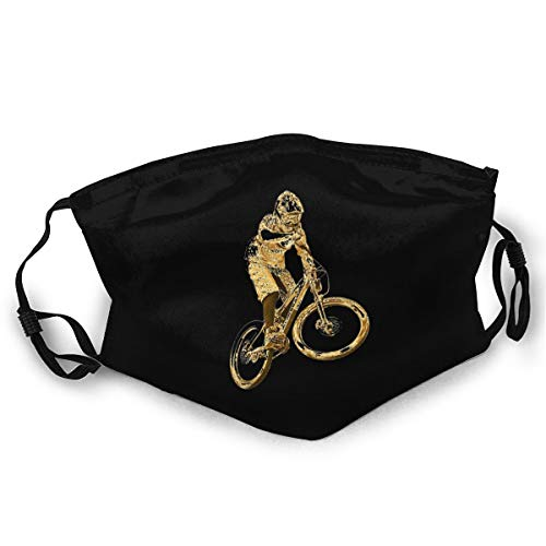 Gold Downhill Mountain Bike Mask Anti-dust Dust Mask for Camping Travel Unisex
