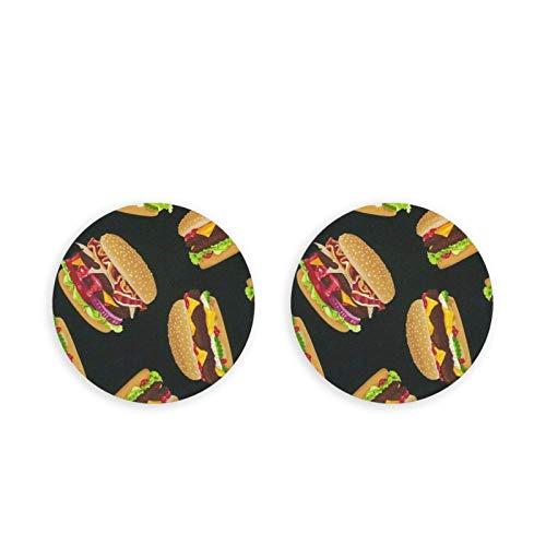 Abrebotellas Carne de vaca Hamburguesa Imanes de nevera Redondos Acero inoxidable Montaje en pared Sacacorchos 2PC