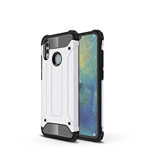 GUOQING Carcasa de telefono Funda Protectora para Huawei Honor 10 Lite Case, para Huawei Honor P Smart 2019 Case, TPU + PC Dual Capa Dual Layer Hybrid Hybrid Protective Case (Color : White)