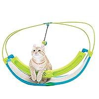 QIXIAOCYB 面白い猫クレードルベッド快適な猫スイングハンモック犬スイングソファーの鐘のおもちゃの興味のあるペット遊んでベッドペット用品