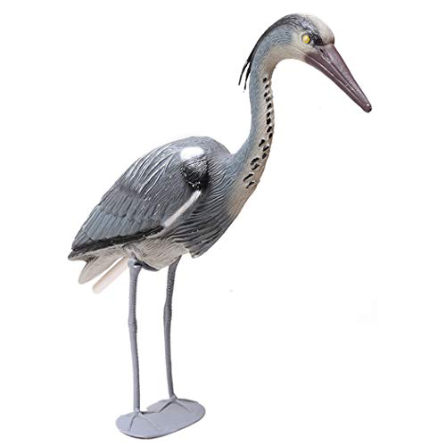 PRsellings Realistico Heron Ornament Grande Resina Esca Plastica Heron Garden Ornament Bird Fish Pond Decorazione del Giardino 71Cm 71 * 22 * 15 Cm / 27,95 '' * 8,66 '' * 5,9 '' Nero
