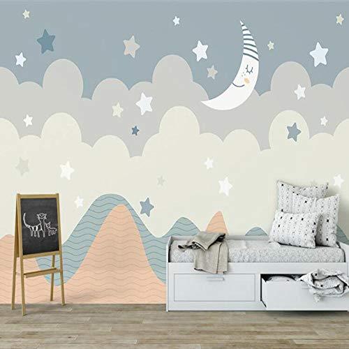 3D vliesbehang foto vlies premium fotobehang moderne maan 3D speelt groot behang wandschilderij De belangrijkste rol 350*245cm #376