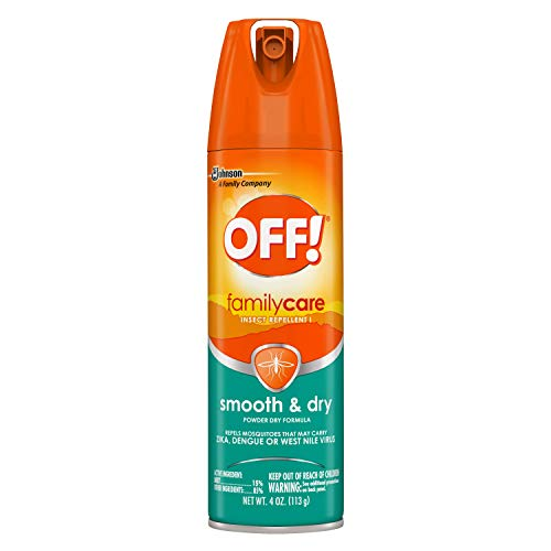 OFF! Family Care Insect & Mosquito Repellent I, Smooth & Dry Bug Spray for the Beach, Backyard, Picnics and More, 4 oz.