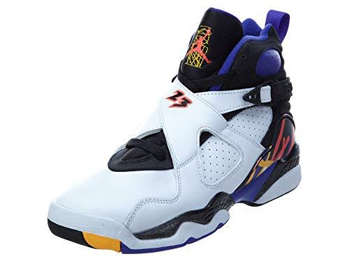 Nike Air Jordan 8 Retro BG, Zapatillas de Deporte para Niños, Blanco/Negro/Azul (White/Infrrd 23-Blk-Brght Cncr), 37 1/2 EU