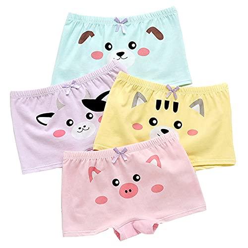 BAIYA Mädchen Unterhosen,Kinder Unterhosen Unterwäsche,Kleinkind Slip Höschen,Baumwolle Kinder Höschen 4er Pack 2-16 Jahre (B,2XL-10-12 Years)