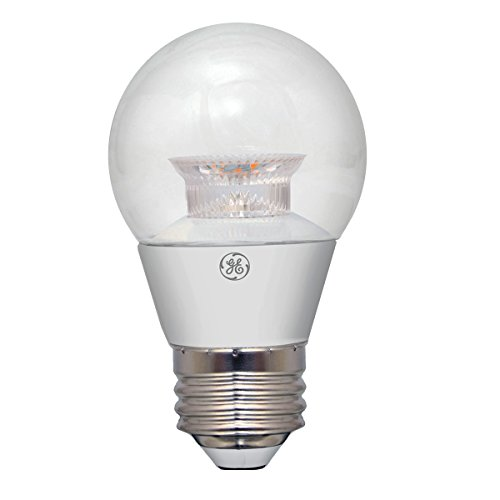 GE Lighting 37933 LED A15 Ceiling Fan Bulb with Medium Base, 4-Watt, Clear, 1-Pack Standard, Soft White